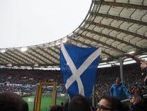 Scotland flag stadium. Scotland flag Olympic Stadium of Rome royalty free stock photo