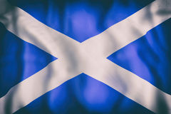 Scotland flag waving stock illustration