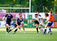 Scotland A and Georgia battle during IRB Nations Royalty Free Stock Photography
