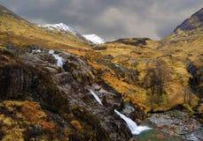 Scotland. Glaciers melting across beautiful sottish landscape royalty free stock images