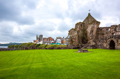 Scotland. Great Britain, Scotland, Fife area, St Andrews, the village seen from the Castle's ruins royalty free stock photos