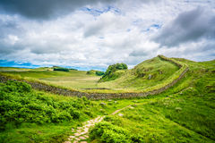 Scotland Hadrian Wall hiking nature Royalty Free Stock Photos