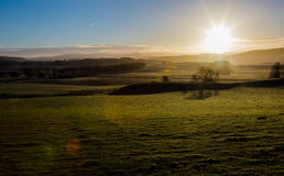 Scotland highlands at cold winter clear sunrise air Royalty Free Stock Photography