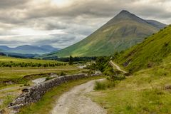 Scotland Highlands Landscape Scenery in Bridge of Orchy Nature T stock photo