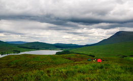Scotland highlands tent Royalty Free Stock Photos