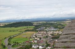 Scotland highlands from the stirling castle stock photos