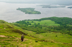 Scotland Hiker stock image