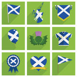 Scotland icons Royalty Free Stock Image