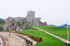 Scotland Inchcolm island abbey 2. Scotland Inchcolm island abbey landscape Royalty Free Stock Photography