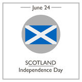 Scotland Independence Day, June 24 Stock Images