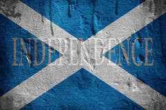 Scotland Independence flag. Scotland independence flag overlaid with grunge texture royalty free stock photography