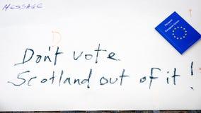 Scotland independence referendum Stock Image