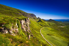 Scotland. Isle of Skye Scotland Glenhinnisdale landscape The Minch summer time vacation Stock Image