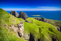 Scotland. Isle of Skye Scotland Glenhinnisdale landscape The Minch summer time vacation Stock Photography
