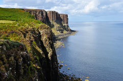 Scotland Kilt rock cliff. Sky island Royalty Free Stock Images