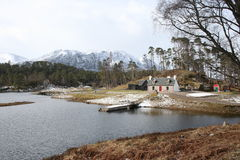 Scotland Landscape Glen Affric in Winter Royalty Free Stock Photos