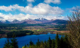 Scotland Landscape with lake Royalty Free Stock Photo