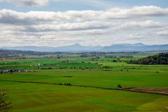 Scotland landscape view from Stirling Castle top hill. Great Britain Stock Image