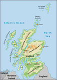 Scotland map. Detailed Scotland illustrated geographical map vector illustration