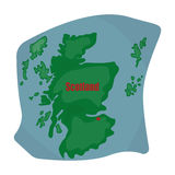 Scotland the map.Scotland is a Country on the world map.Scotland single icon in cartoon style vector symbol stock Stock Images