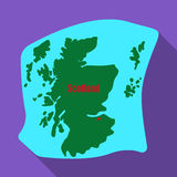 Scotland the map.Scotland is a Country on the world map.Scotland single icon in flat style vector symbol stock Royalty Free Stock Photo