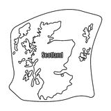 Scotland the map.Scotland is a Country on the world map.Scotland single icon in outline style vector symbol stock Royalty Free Stock Photos