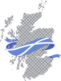 Scotland map with tartan Royalty Free Stock Image