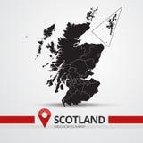 Scotland map. Vector silhouette. Scotland ouline map stock illustration