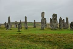 Scotland menhir. Scottish menhir isle of Lewis Stock Image