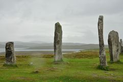Scotland menhir 2. Scottish menhir isle of lewis Royalty Free Stock Photography