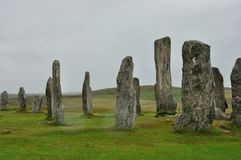 Scotland menhir 3. Scottish menhir isle of Lewis Stock Image