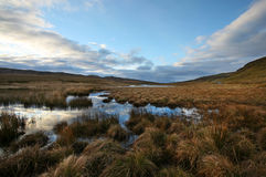 Scotland Moor at sunrise Stock Photo
