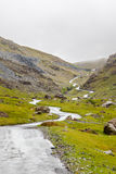 Scotland Mountains. Road/path at the Scottish mountains Royalty Free Stock Photography