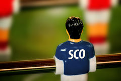 Scotland National Jersey on Vintage Foosball, Table Soccer Game Royalty Free Stock Photography