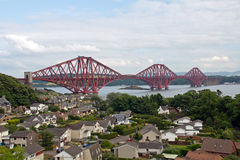 Scotland, north queensferry, forth railway bridge Royalty Free Stock Images