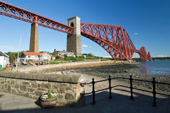 Scotland, north queensferry, forth railway bridge. Forth railway bridge in north queensferry Royalty Free Stock Photos