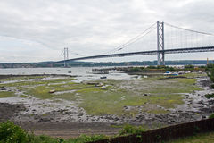Scotland, north queensferry, forth road bridge Stock Photos