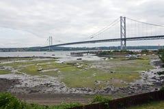 Scotland, north queensferry, forth road bridge. Forth road bridge in north queensferry Stock Photos