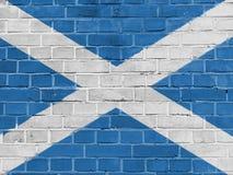 Scotland Politics Concept: Scottish Flag Wall royalty free stock photo