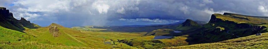 Scotland, Quiraing panorama stock photos