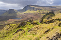 Scotland-The Quirang on Isle of Skye Royalty Free Stock Photography