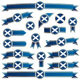 Scotland ribbons Stock Images
