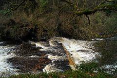 Scotland River Clyde Waterfalls New Lanark Stock Photo