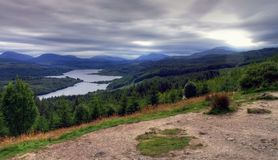 Scotland. Rough scottish landscape in severe weather conditions Royalty Free Stock Photo