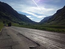 Scotland's roads in the summer Royalty Free Stock Images