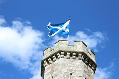 Scotland. Saltire flying at Abbotsford House Stock Images