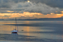 Scotland, Small fishing boat, on the beach, Stock Photography