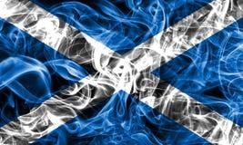 Scotland smoke flag on a black background.  stock image