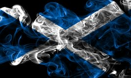 Scotland smoke flag on a black background.  royalty free stock image