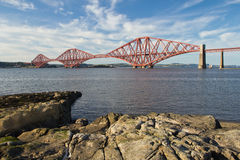 Scotland, south queensferry, forth railway bridge. Forth railway bridge in south queensferry Royalty Free Stock Photography